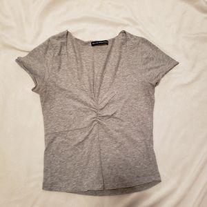 Grey v neck